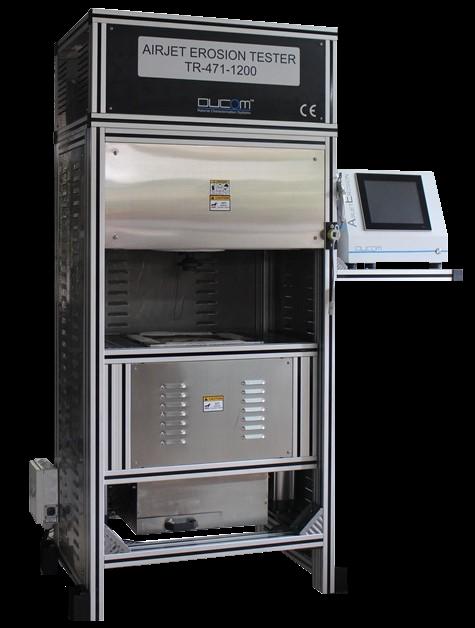 Ducom噴氣侵蝕測試儀,可將溫度控制在1000攝氏度以下。